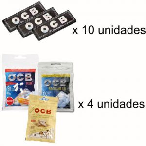 ocb-negro-premiumx10+filtros-ocbx4
