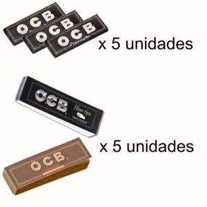 ocb-negro-premiumx5+filtros-carton-ocbx5